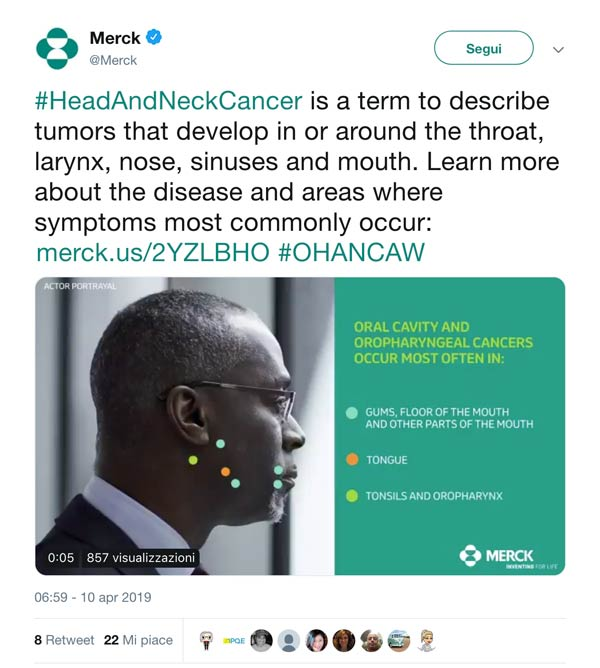 Merck Twitter Cancer